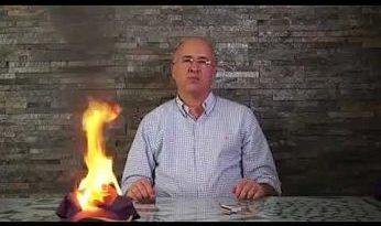 EL PLD ARDE CALIENTE EN LLAMAS ;Domínguez Brito pega fuego gorra de su partido para hacer polvo de todo lo que no sirve del pld