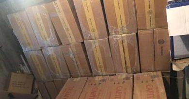 MP y Policía confiscan más de 2 millones de unidades de cigarrillos de contrabando
