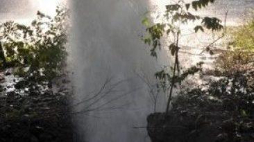 NacionalesAvería en una tubería de agua afecta planta de Gas en Santiago