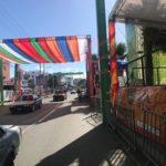 El escenario está preparado para la celebración este domingo 10 de marzo a partir de las 2 de la tarde del desfile de calentamiento del Carnaval Santo Domingo Norte 2019 organizado por la Dirección de Cultura de la Acadia de esta demarcación.