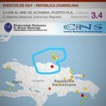 Se registro leve temblor de tierra en Altamira, sismo fue imperceptible en el resto de la provincia Puerto Plata