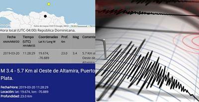 Un temblor de tierra cuya magnitud fue de 3.4 grados en la escala de Richter, se produjo en el municipio de Altamira.