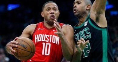 Harden anota 42 puntos y Rockets vencen a Celtics, que tuvieron 19 de Horford