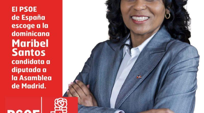 El PSOE de España escoge a la dominicana Maribel Santos candidata a diputada por la Asamblea de Madrid.