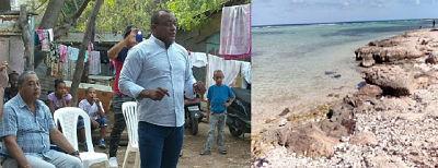 ¡ PROPUESTA INTERESANTE ¡ Candidato a la alcaldía por el PRI Freddy Vargas, deplora estado de abandono de Playa Saladilla. Propone convertir lugar en un atractivo turístico y fuente de economía.