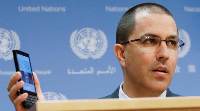 EE.UU. impone sanciones contra el canciller venezolano, Jorge Arreaza