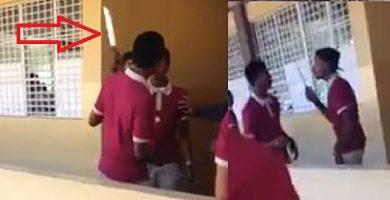 ATENCION EDUCACION; En pleno Liceo, estudiante amenaza a otro con un cuchillo