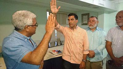 BUEN PASO ;PRM juramenta a Juan José Rojas como Presidente de la Circunscripción 3 de la Provincia de Santo Domingo.