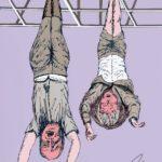 """""""Eres un bastardo"""": El dibujo de Jim Carrey que enfureció a la nieta de Mussolini"""