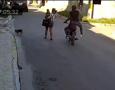 INSEGURIDAD:Atracan a joven que iba con su bebé en brazos; hasta el perro se sorprende