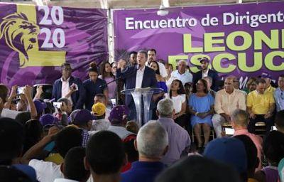 MIDEN FUERZA: Precampaña electoral tendencias de Danilo y Leonel en actos de masas
