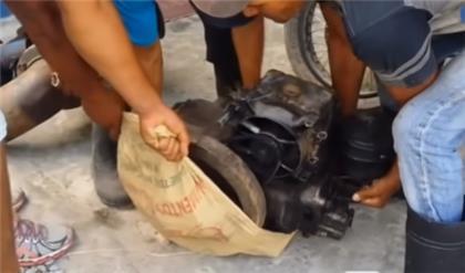 LE ECHAN EL GUANTE : Policía de Villa Riva desmantela banda se dedicaba al robo de bombas de riego