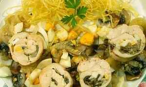 PREPARALO: Rollitos de pollo con champiñones