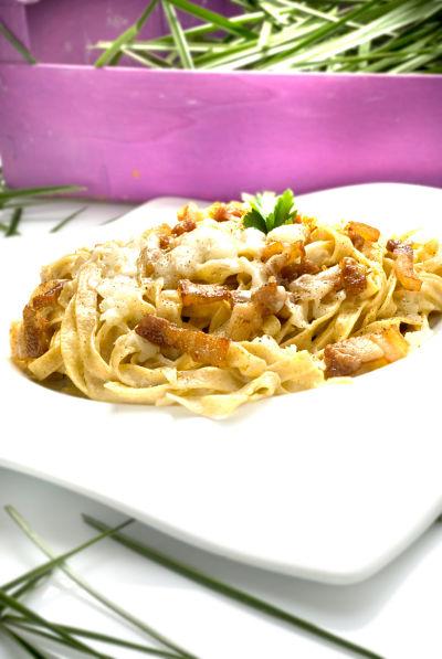 PRUEBALO: Receta de Pasta fresca a la carbonara