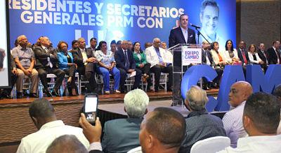 UNIÓN HACE LA FUERZA ;Luis Abinader exhorta a la unidad y evitar conflicto en el PRM