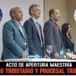 Realizan con éxito acto de apertura maestría derecho tributario y procesal tributario en la UASD