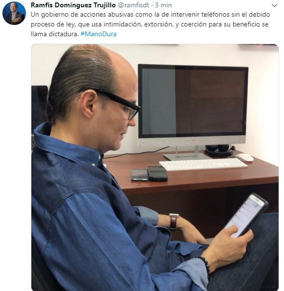 Ramfis Domínguez Trujillo califica como métodos de opresión de las dictaduras, las intervenciones telefónicas