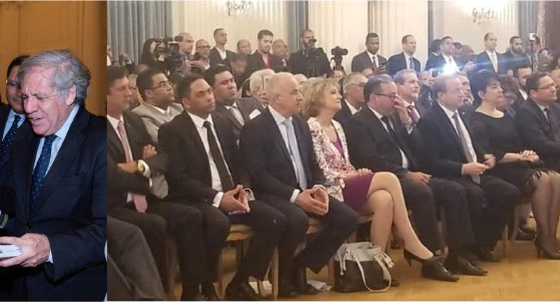 Ministro Consejero Flavio Holguín destaca éxito presentación del libro de Leonel en la OEA