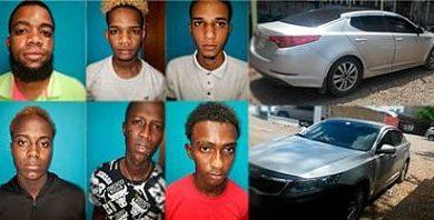 ATRACO EN KIA : Apresan seis hombres que supuestamente intentaron asaltar a un cabo de la PN