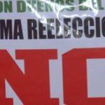 Levantarán paredón contra la reelección