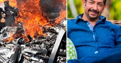 Medrano muere en su primer vuelo en helicóptero que se estrelló en PP