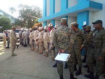 Ministerio Público fuerza pública realizan requisa en cárcel policial de Dajabón