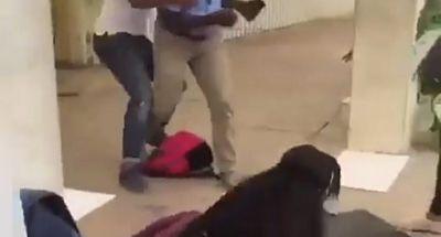 Presunto seguridad de Universidad O&M agrede estudiante en campus universitario