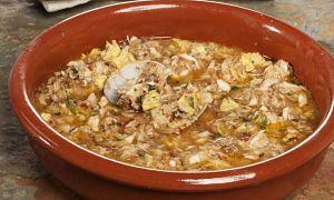 RICA: Sopa de ajo y pescado