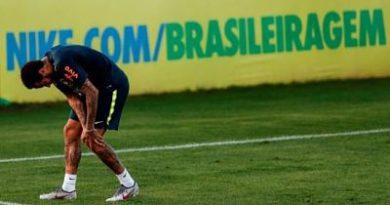 Médicos de Brasil descartan lesión grave de Neymar