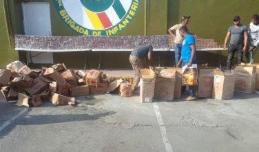 Ejército incauta 1,970 paquetes de cigarrillos en El Cercado