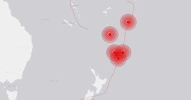 ALERTA:Tras el terremoto de magnitud 7,2 en Nueva Zelanda, se registra un sismo de magnitud 6,3