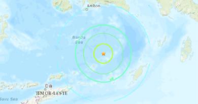 ALERTA :Un terremoto de magnitud 7,3 se registra cerca de las costas de Indonesia