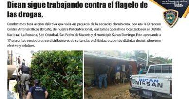 ATENCIÓN: Dican sigue trabajando contra el flagelo de las drogas