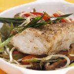 RICOS: Pescado al horno con frejol chino