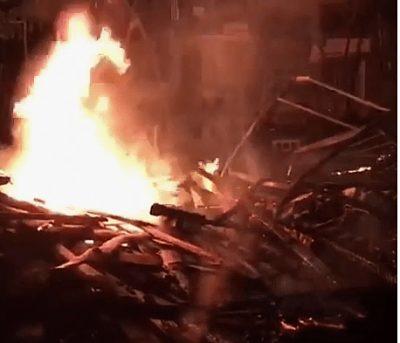 Comunitarios de Cienfuegos incendian vivienda de hombre que presuntamente violó y asesinó a menor de 11 años