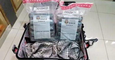 DNCD incauta 10 kilos de cocaína tenían a Francia como destino
