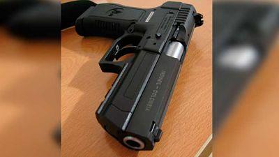 """Hombre se le """"zafa un tiro"""" en el Juzgado de Paz de la Cuarta Circunscripción del DN"""