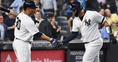 Edwin Encarnación y Gary Sánchez producen jonrones en victoria de Yankees