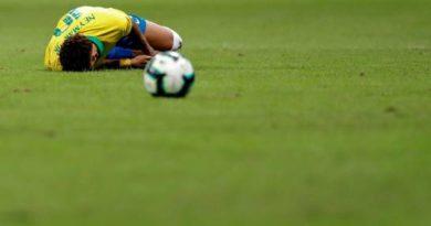 El atacante Neymar abandonó cojeando el amistoso de Brasil contra Catar