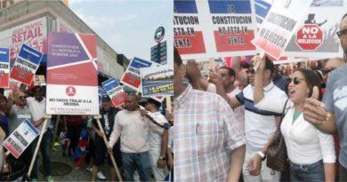 Entidades de la diáspora se movilizan en el Alto Manhattan contra reforma a la constitución