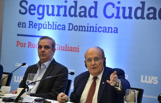 ATENCIÓN: Rudolph Giuliani afirma Abinader controlará delincuencia