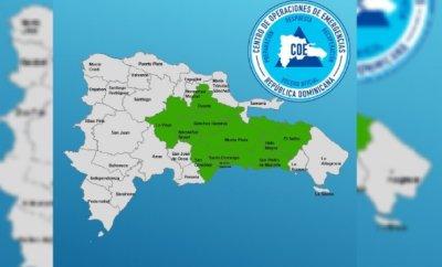 COE emite alerta verde para 10 provincias