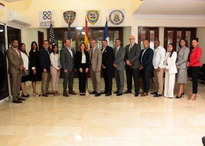 Fiscal titular DN sostiene encuentro de trabajo con PN y representantes de Canadá España Estados Unidos y Francia