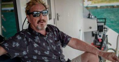 Procuraduría responde a McAfee: Yate y perros fueron entregados a sus abogados