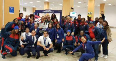 Llega a Perú primer grupo atletas RD para Panamericanos