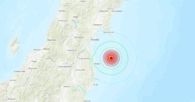 ALERTA:Un fuerte terremoto de magnitud 6,2 se registra cerca de Fukushima