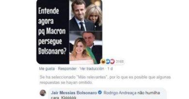 Bolsonaro se mofa de Brigitte Macron en Facebook