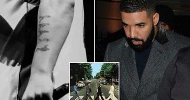 Drake criticó por hacerse un tatuaje 'patético' que se burla de los Beatles