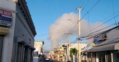 Fuego afecta el vertedero de Moca