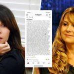 Sobeida Félix arremete contra Nuria Piera a través de su cuenta de instagram